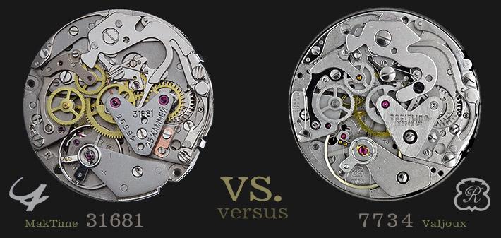 31681 MakTime vs. 7734 Valjoux