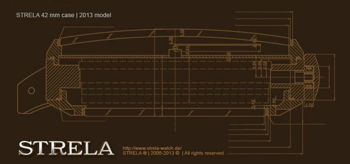 NEW STRELA 42mm case